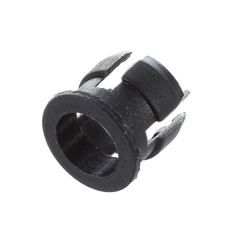 50 5mm Black Plastic LED Holder Case Clip Display Panel H9X6