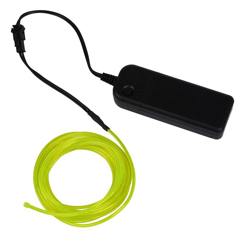 LED Flexible El Wire Neon Glow Tube Lamp Light 3v 3m Fluorescent ...