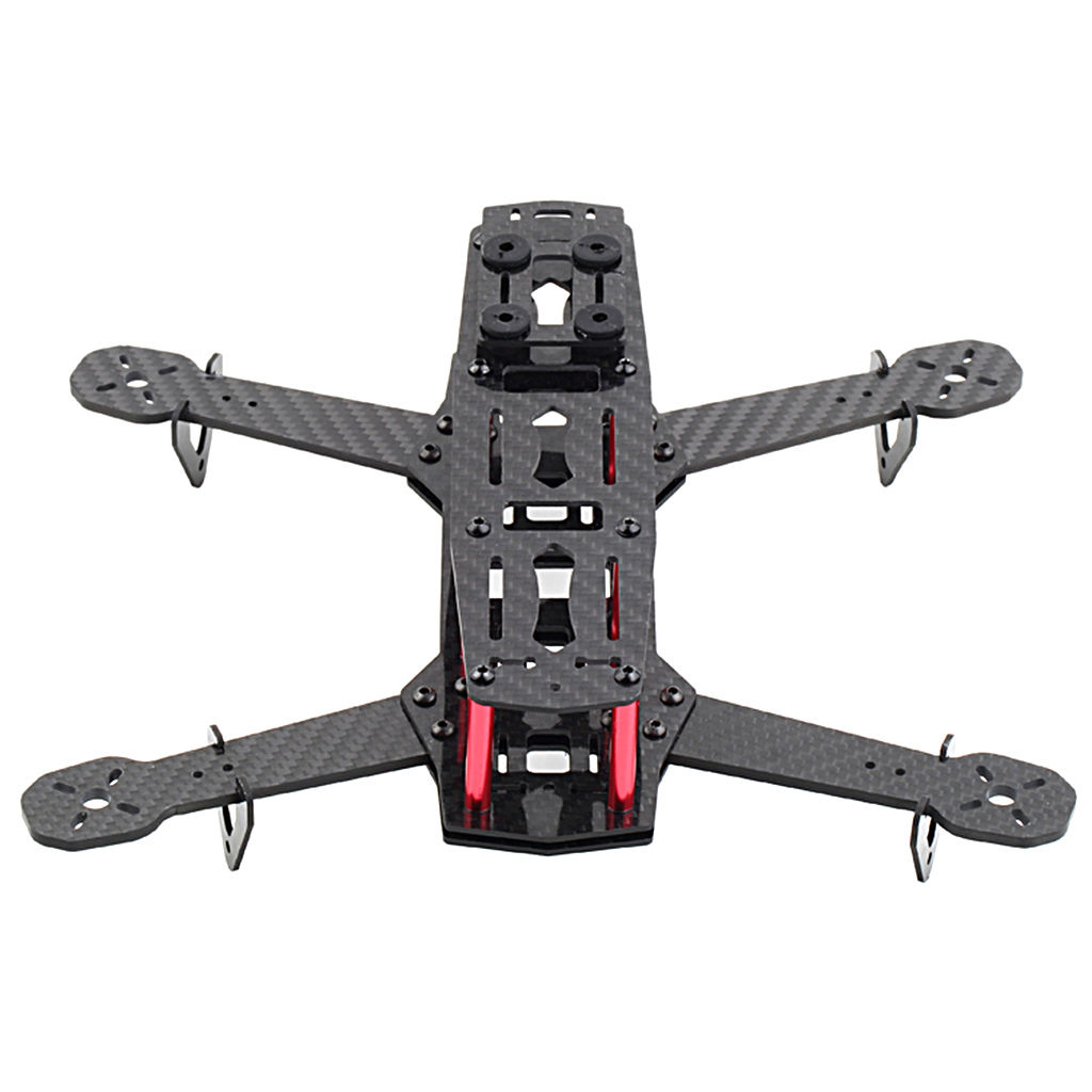 250mm Mini Multicopter Quadcopter Racing Drone Glassy Carbon Frame ...