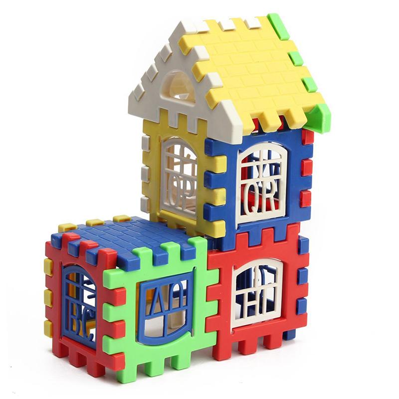 24PCS Children Puzzle plastic letter Building blocks house toy N3