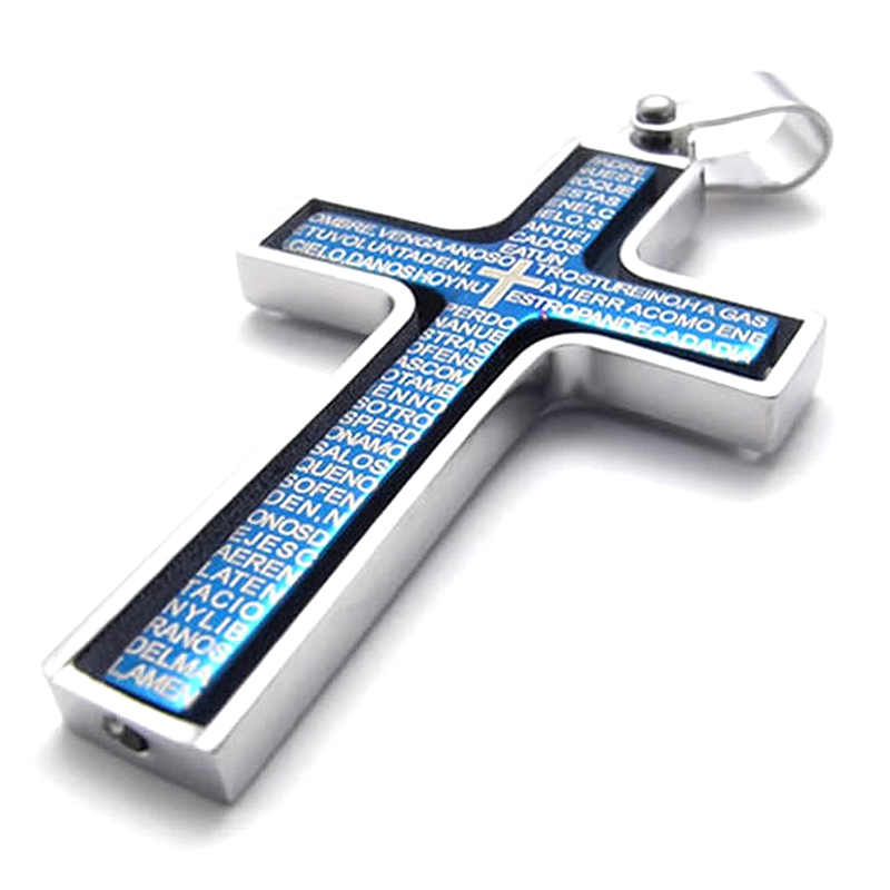 Jewelry-Stainless-Steel-Bible-Prayer-Cross-pendant-necklace-Necklace-for-meC1L4