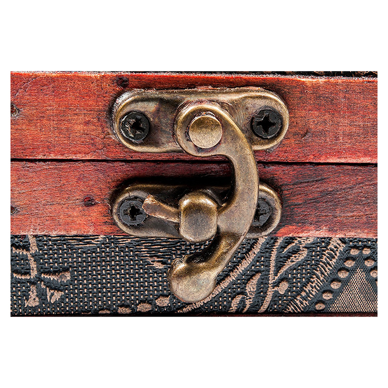Wooden-Antique-Design-Embossed-Flower-Jewelry-Gift-Necklace-Case-Box-R6N4 thumbnail 4