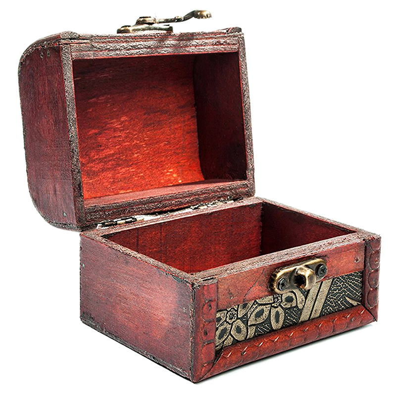 Wooden-Antique-Design-Embossed-Flower-Jewelry-Gift-Necklace-Case-Box-R6N4