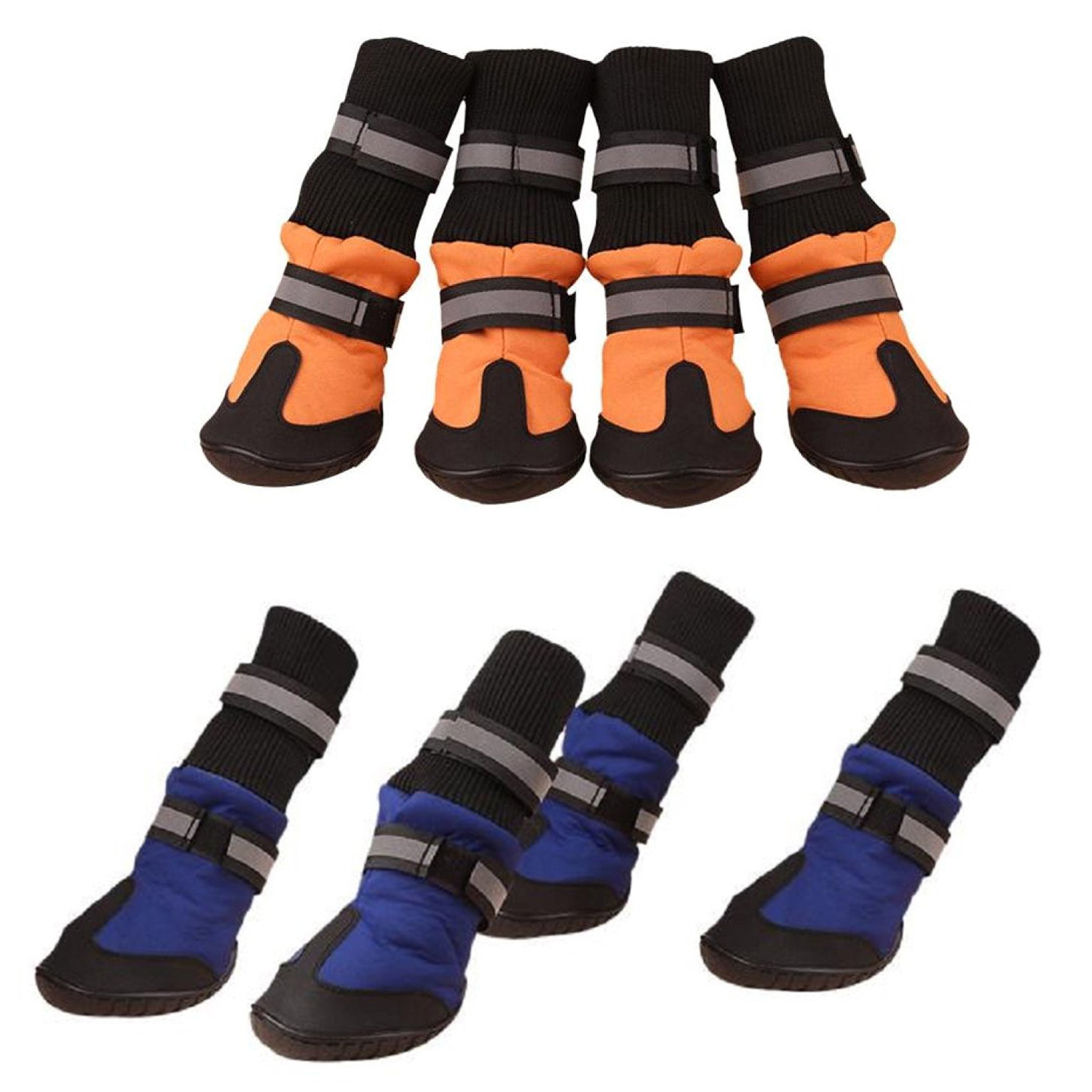 20XBig Dog Soft Waterproof Boots for Large Dog Shoes  Blue XL S7O8