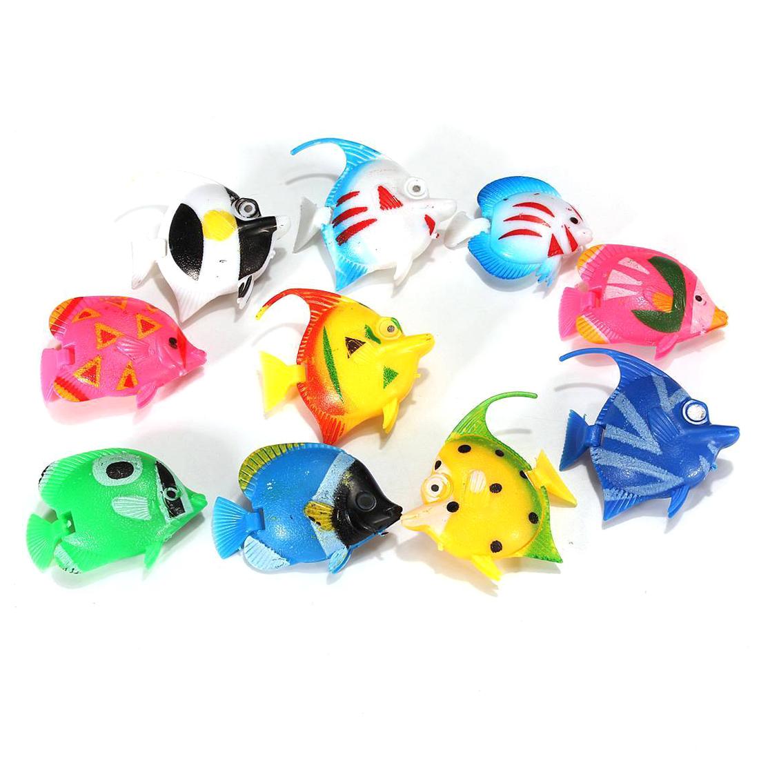 Toys For Fish : Pcs plastic small fake fish for aquarium decoration pk