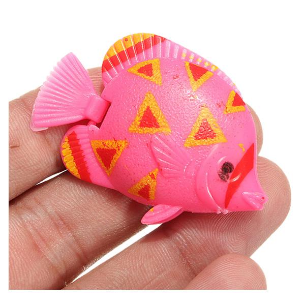10 pcs plastic small fake fish for aquarium decoration for Small plastic fish