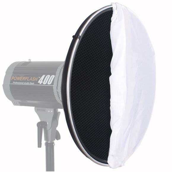 6X-Photo-Studio-Flash-Beauty-Dish-42cm-S-type-Nid-d-039-abeille-Diffuseur-Blanc-UH