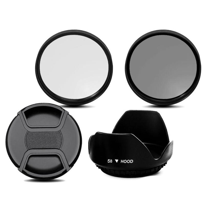 5X-CPL-Kit-de-Filtre-UV-58mm-pour-EOS-700D-100D-600D-1200D-Capuchon-de-Pare-Q2 miniature 3