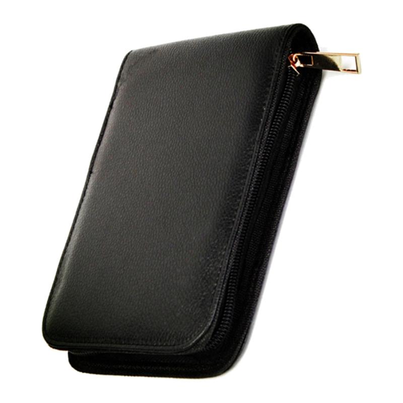 Pen-Case-Schoolbag-Pen-Pencil-Case-Leather-Case-For-12-Pen-K20-A8D9 thumbnail 2