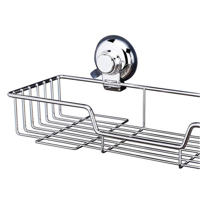 Stainless Steel Bathroom Shower Shelf Wire Basket Storage Caddy Suction T1p3 Ebay