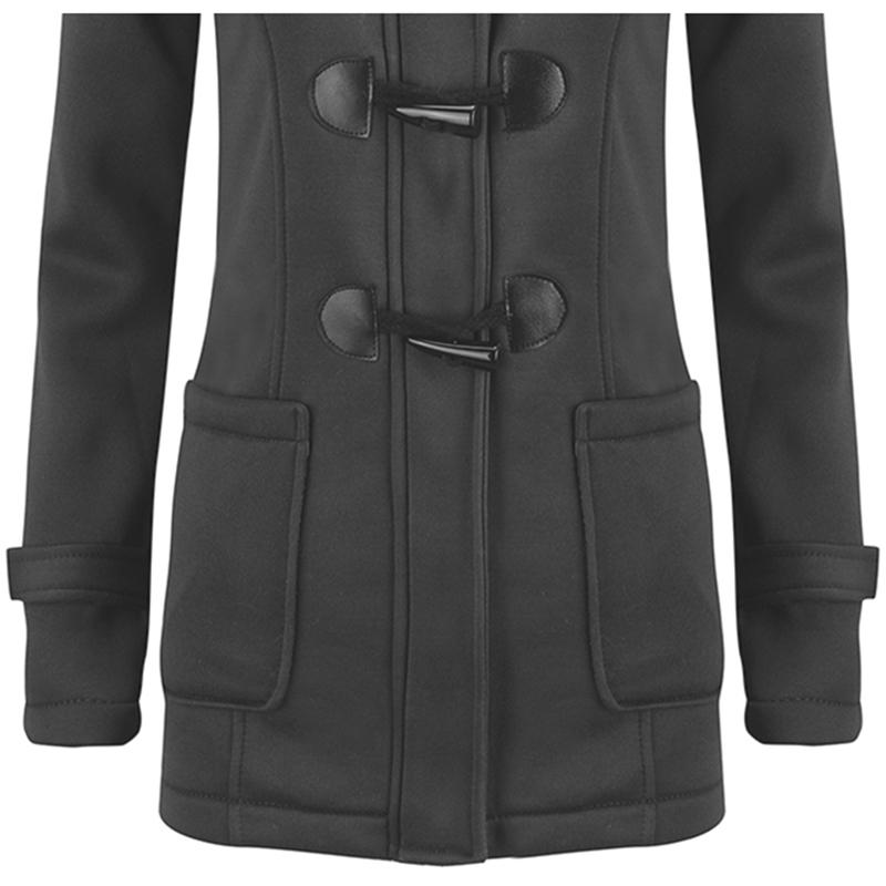 Femmes-Printemps-Automne-Trench-Coat-Long-Manteau-Femme-Manteau-A-Capuche-K2P9 miniature 5