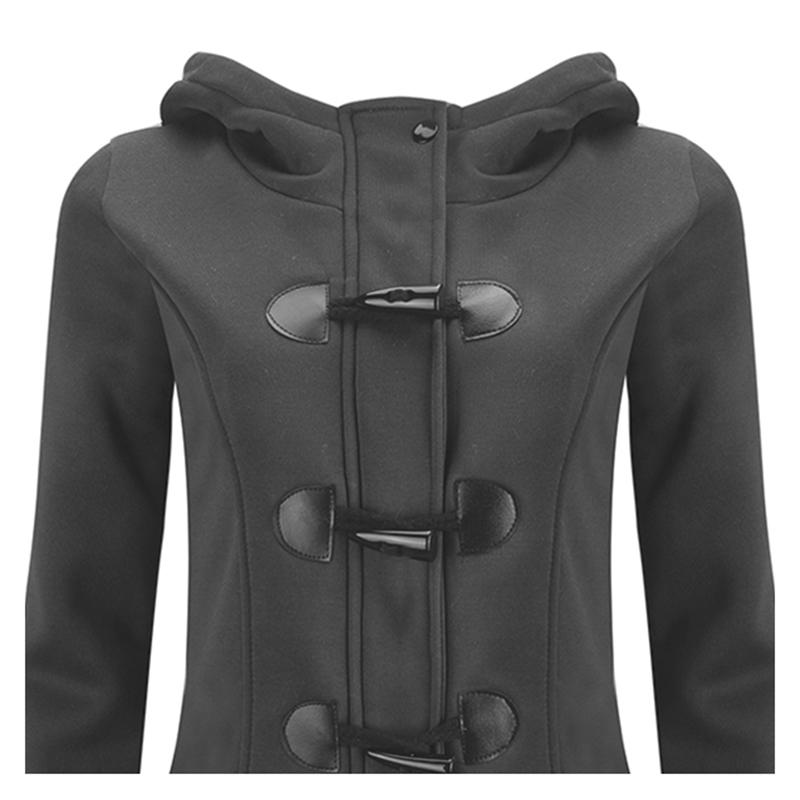 Femmes-Printemps-Automne-Trench-Coat-Long-Manteau-Femme-Manteau-A-Capuche-K2P9 miniature 6