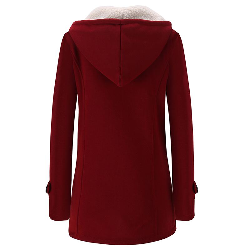 Femmes-Printemps-Automne-Trench-Coat-Long-Manteau-Femme-Manteau-A-Capuche-K2P9 miniature 9