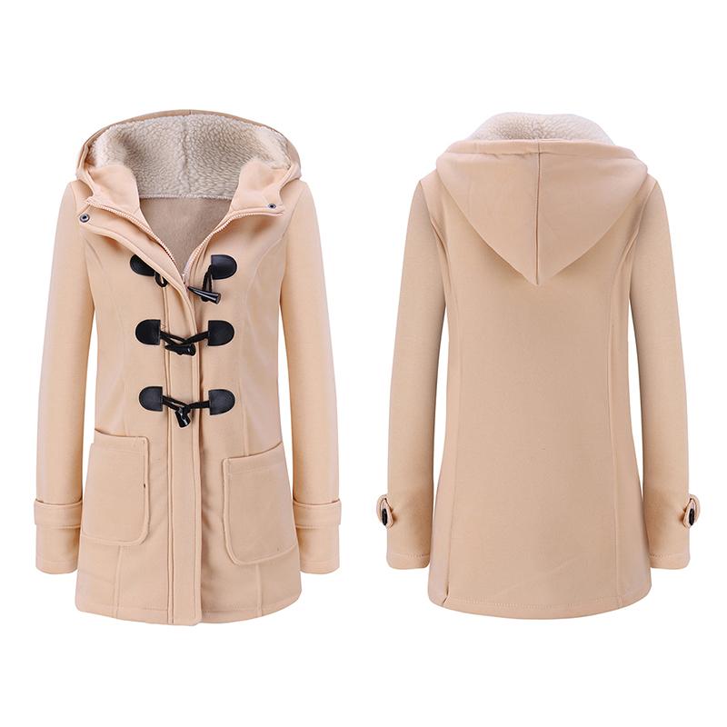 Femmes-Printemps-Automne-Trench-Coat-Long-Manteau-Femme-Manteau-A-Capuche-K2P9 miniature 14