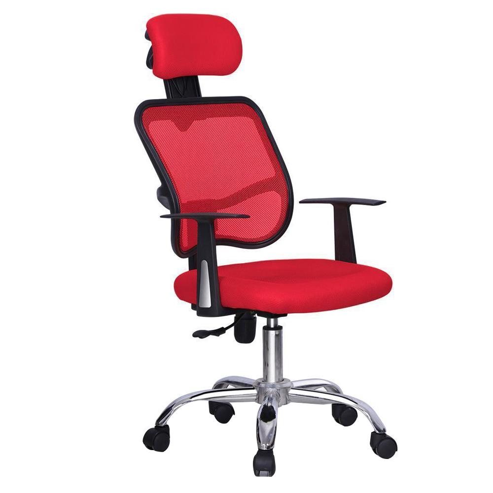 Red Ergonomic Executive Mesh Computer Office Desk Task Chair F6j Ebay