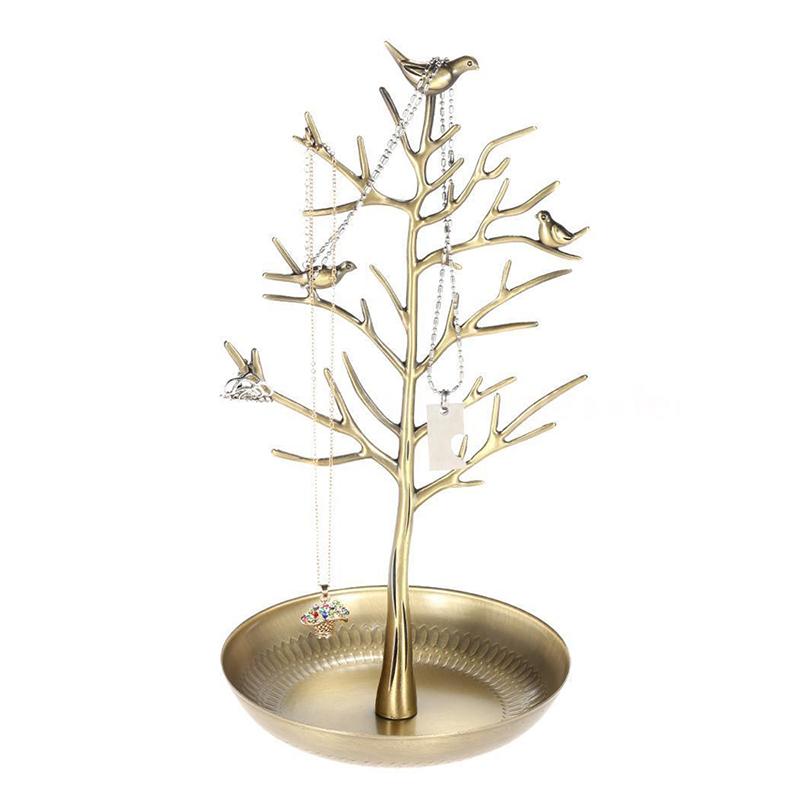Indexbild 7 - Metall-Baum-Schmuckstaender-Display-Rack-Ohrring-Halskette-Ring-Halter-N3T2