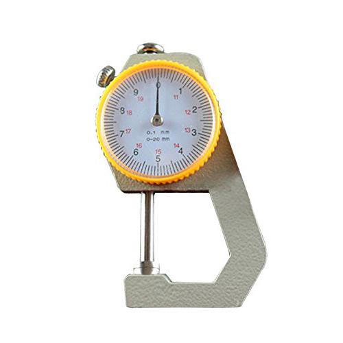 Metal-Cuero-0-a-20mm-Dial-Medidor-de-espesor-de-0-1-mm-de-precision-Plata-A-X4