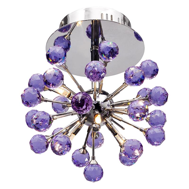 1X(Elegant Flush Mount Crystal Chandelier Ceiling Pendant Lamp Fixture ligh 9C1)