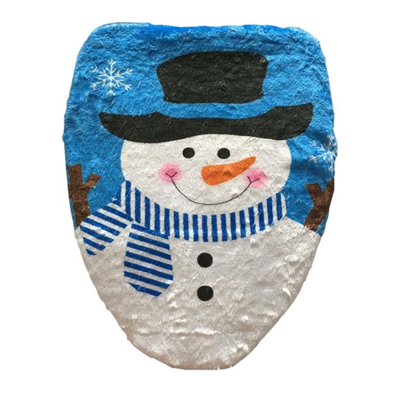 BANAMANA Mu/ñeco de Nieve Cubierta de Asiento de Inodoro de Navidad Decoraci/ón Ba/ño