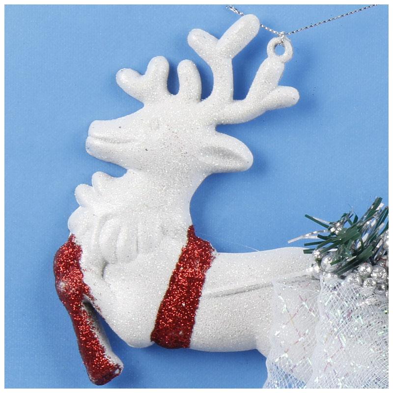 White-Christmas-Home-Door-Window-Ornaments-Christmas-Decoration-Xmas-Tree-H-T6A7 thumbnail 11