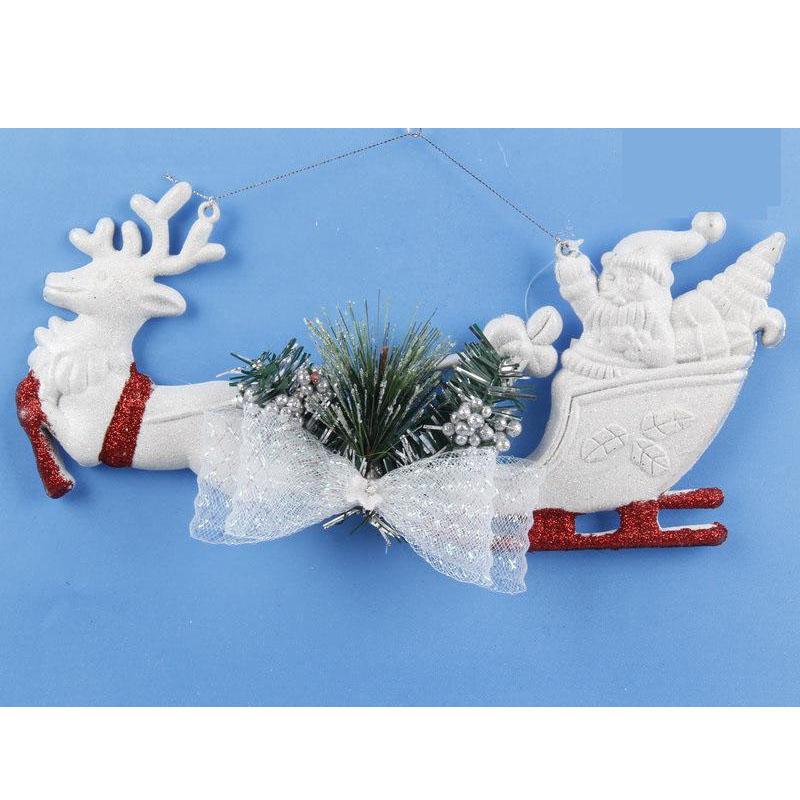 White-Christmas-Home-Door-Window-Ornaments-Christmas-Decoration-Xmas-Tree-H-T6A7 thumbnail 13