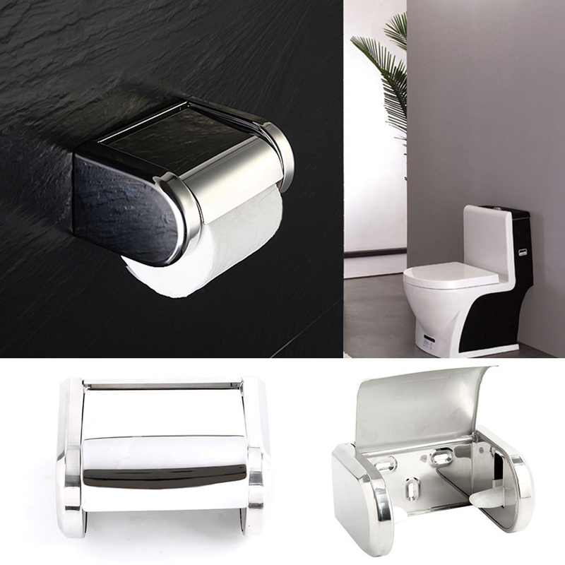 Stainless Steel Bathroom Wall Mounted Toilet Chrome Paper