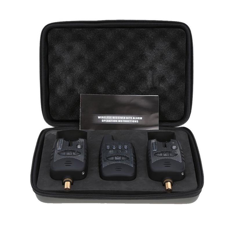Professional Wireless digital waterproof LED fishing alarm set  2pcs  fishi ZH
