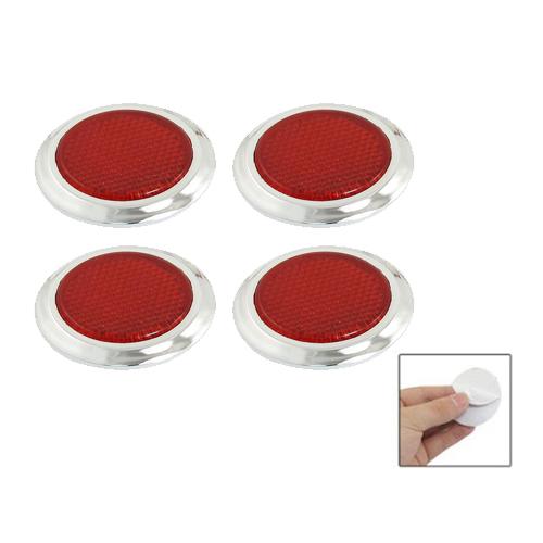 4 pcs auto car plastic round reflective reflector sticker red s9 4894462413951 ebay